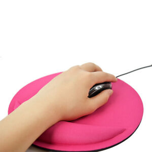 Gel-Wrist-Rest-Game-Round-Mouse-Mice-Mat-Pad-for-Computer-PC-Laptop-Anti-Slip