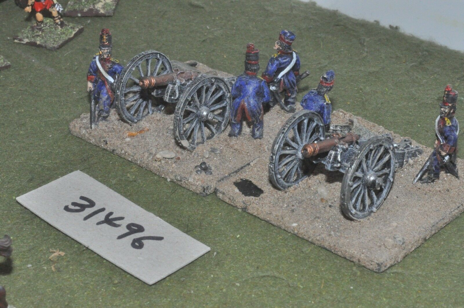 25mm ACW   mexican - 2 guns & crews - art (31496)