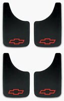 4 Pk Chevy Red Bowtie 9x15 Mud Flaps Splash Guards For Trucks, Suvs, Vans, Cars