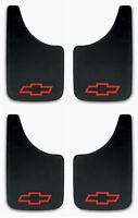 4 Pk Chevy Red Bowtie 9x15 Mud Flaps Splash Guards For Trucks, Suvs, Vans, Cars