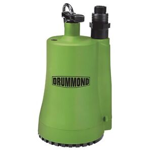 Details about New Drummond 1/3 HP Fully Submersible Utility Pump 2000 GPH  120 Volt Water Pump