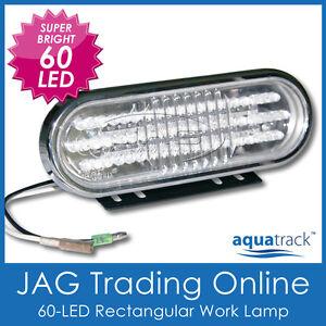 1x 60-LED WORK LAMP - Boat/Fishing/Caravan/RV/4x4/Deck/Truck/Forklift/DRL Light