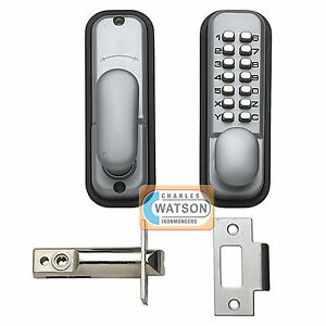 Details about Digital Push Button Door Lock Key Pad Code Combination Access  Mechanical