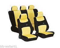 Für VW Golf / Golf Plus Autositzbezüge Schonbezug Sitzbezüge Colori gelb schwarz