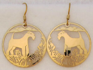 Silky Terrier Jewelry Gold Earrings by Touchstone
