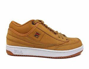 UK Shoes - Fila Sports Mens T-1 MID Shoes Wheat 1VT13050-22 a Wheat/White/Gum