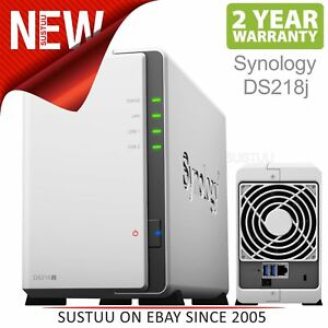 Synology-DS218j-2-Bay-Desktop-NAS-Enclosure-Dual-core-Cloud-Storage-Disc-Station