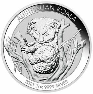 Australian Koala 1oz .9999 Silver Bullion Coin - 2021 The Perth Mint