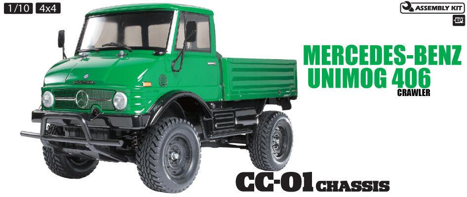 Tamiya 58457 Unimog 406S CC01 Crawler RC Kit - DEAL BUNDLE with STEERWHEEL Radio