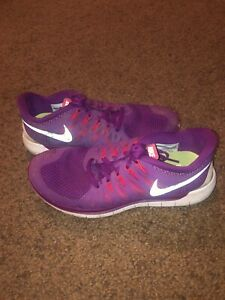 check out d3166 4977b Details about Nike Free 5.0 Women's Purple Size 8.5 Running Shoes
