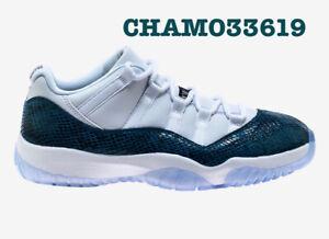 16b8766deca154 Nike Air Jordan Retro 11 Low LE Blue Snakeskin - All Sizes - W Rcpt ...