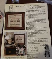 English Elegance Sampler By Maureen P Appleton The Heart's Content, Inc.