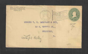 1900-EMPIRE-FORGE-CO-TROY-NY-FLAG-CANCEL-ADVERTISING-COVER-US-STAMPED-ENVELOPE
