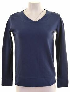FILA-Womens-Sweatshirt-Jumper-Size-10-Small-Blue-Cotton-FR15
