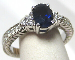 Sapphire-Ring-18K-white-gold-Heirloom-Antique-Style-Certified-Blue-Heirloom-3-9