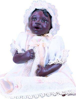 ABC Sami Afro African American Brown Black Dark New Resin Baby Girl Doll