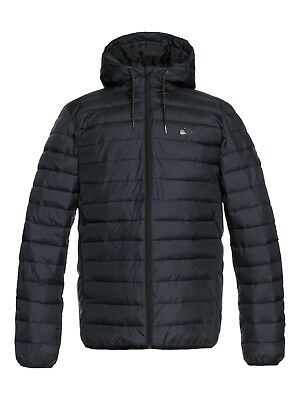 Mens Coat S,M,L,XL Black Quiksilver Scaly FZ Jacket