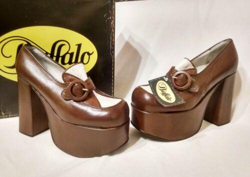 vintage 90s Buffalo london new leather shoes size