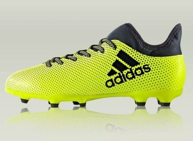 promo code eb4e7 15f63 adidas X 17.3 FG J Youth Size 6y Neon Green Soccer Cleats Techfit S82369