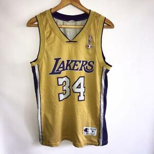 91eca35d1ae VINTAGE LOS ANGELES LAKERS NBA  34 SHAQUILLE O NEAL SHIRT JERSEY ...
