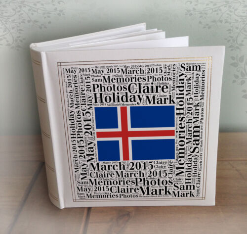 """Personnalisé grand album photo l/'Islande vacances lune de miel 200 x 7x5 /""""photos"""