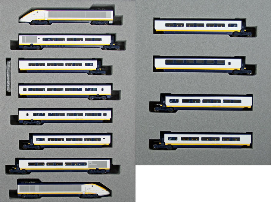 Kato 10-1295 10-1296 EUROSTAR   12 12 12 Cars Set (N scale) 18e337