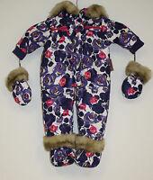 Juicy Couture Snowsuit Plus Purple Floral Infant 168 Baby 3 To 6 Month