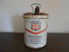 VINTAGE PHILLIPS 66 -  5 GALLON HEAVY DUTY MOTOR OIL CAN