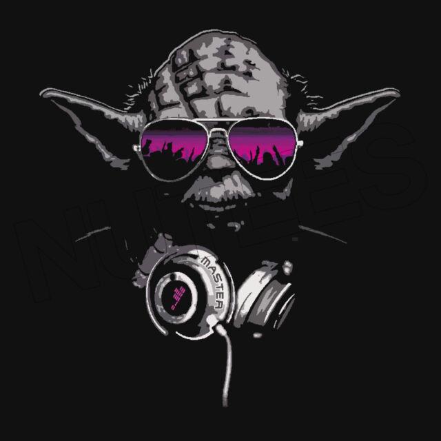 Yoda DJ Jedi Master Hip Hop Music Headphones Men Ladies Kids T-Shirt Vests S-XXL