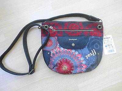 schicke Damenhandtasche von DESIGUAL NEU rot/schwarz