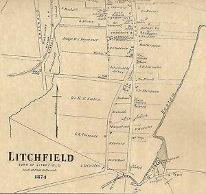 Litchfield Northfield Milton Bantam CT 1874 Maps with Homeowners ...