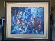 Contemporary painting, most likely Filipino (Philippines) artist