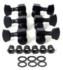 NEW USA Sperzel LOCKING TUNERS 3x3 Black Satin 12:1 Guitar for Gibson Les Paul