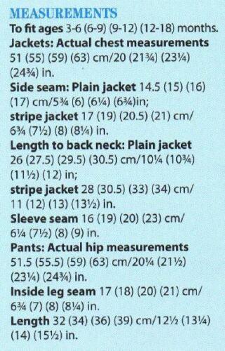 DK Tejer patrón-Bebé Niños Chaqueta /& Pantalones Set S estilos edad 3-18 MTH #228