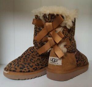 UGGS Cheetah/BOWS Girls Brown Kids