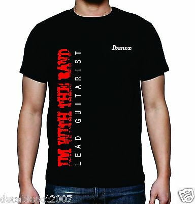 Custom Shirt for LEAD GUITARIST who plays Ibanez Fender Gibson Martin Yamaha etc