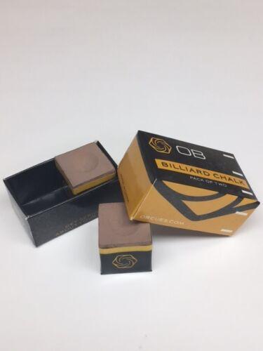 4 Pieces TAN OB Cue Premium Quality Billiard Chalk OB Pool Chalk