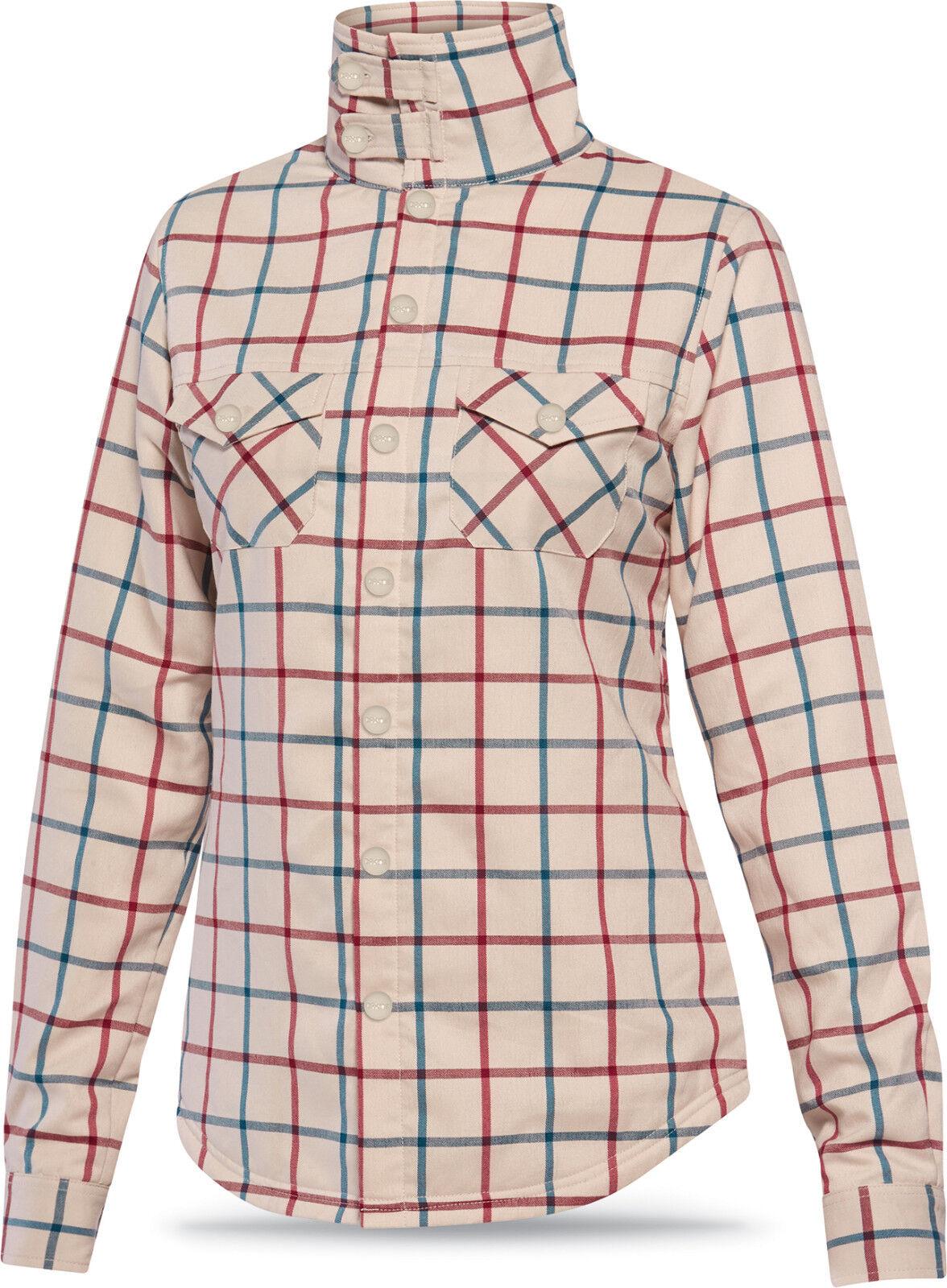 Dakine CAMERON Womens Flannel Mid Layer Top Turtledove Plaid Medium NEW