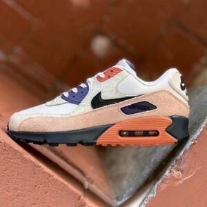 Nike-Air-Max-90-NRG-da-uomo-bianca-dessert-camowabb-Scarpa-Sneaker-Trainer-UK-7-11