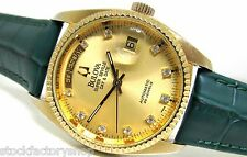 Vintage Swiss Made BULOVA SUPER-SEVILLE Automatic Men's Watch Rare Zarkons Dial!
