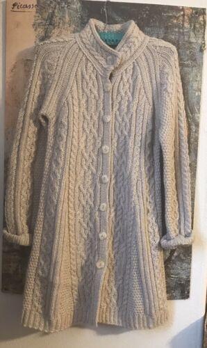 Inis Crafts Women's Merino Wool Sweater Cardigan B
