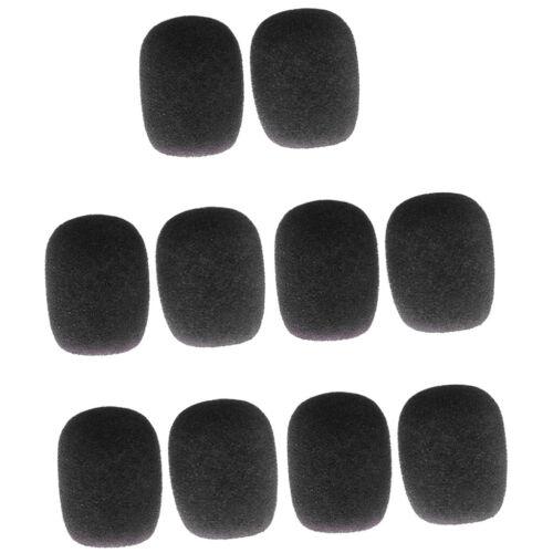 Mini-Mikrofon Schwamm Windschutzscheibe Pack von 10 schwarz