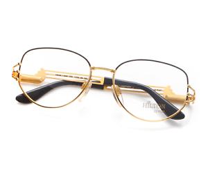 Vintage-Hilton-PARKLANE-110-C3-Square-Unisex-22kt-Gold-Plated-Eyeglasses-Frame
