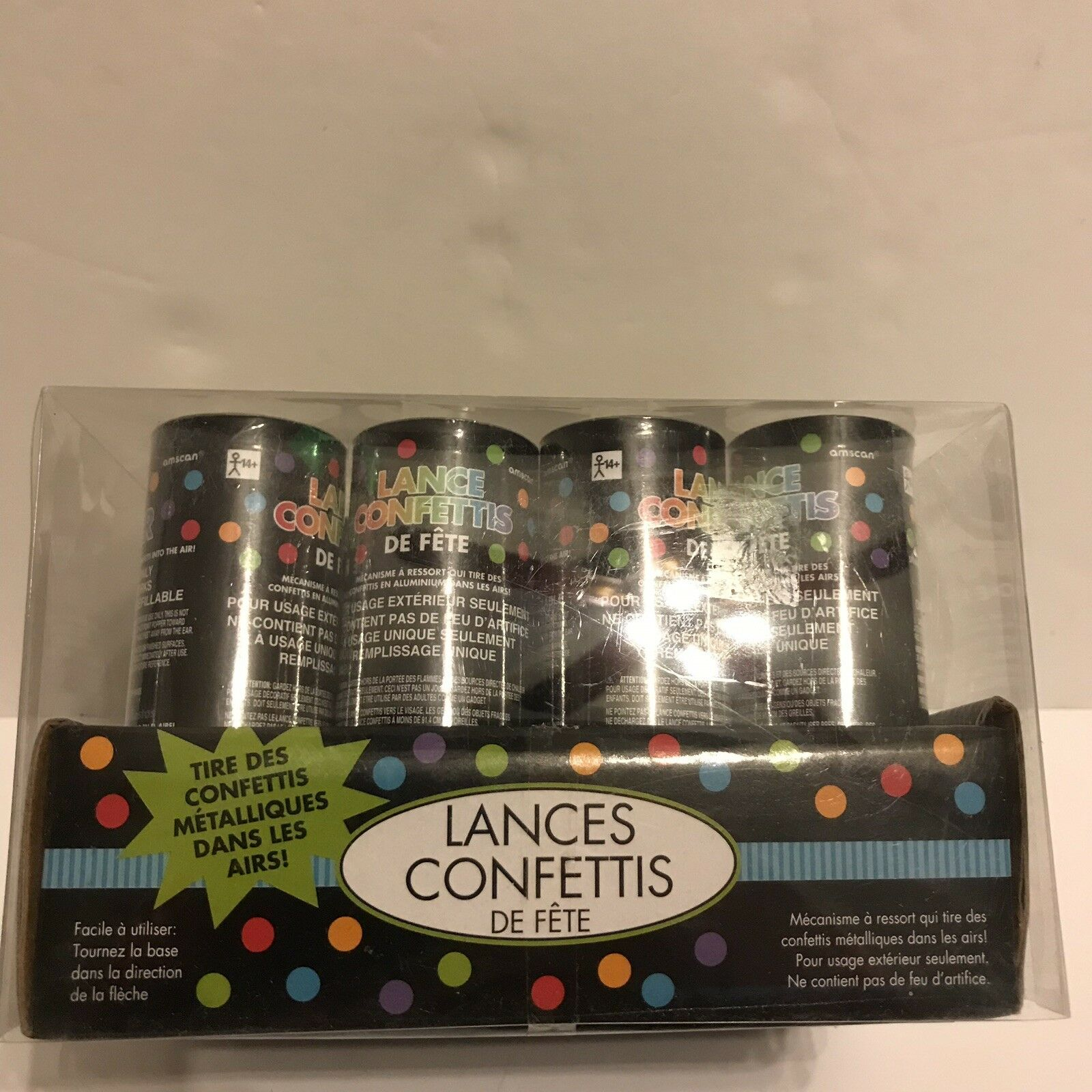 4 Amscan 397777 12 Ct 4 Party Poppers