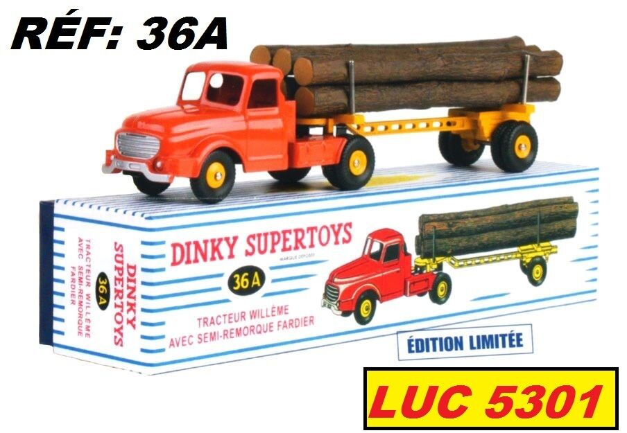 WILLEME FARDIER orange EN EDITION LIMITEE A PAR    DINKY TOYS   ATLAS 73738d