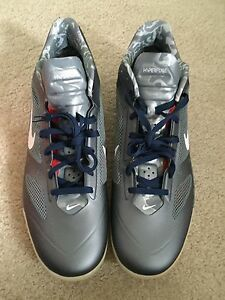 buy popular designer fashion best loved Details about NIB Nike Zoom Hyperfuse 2011 Low PE 487425 Size 18 Silver  Basketball Navy Red