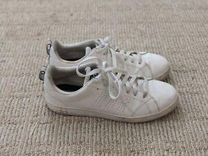 Details about Adidas Men's Shoes Cloudfoam Advantage Clean Sneaker Leather U.S 9