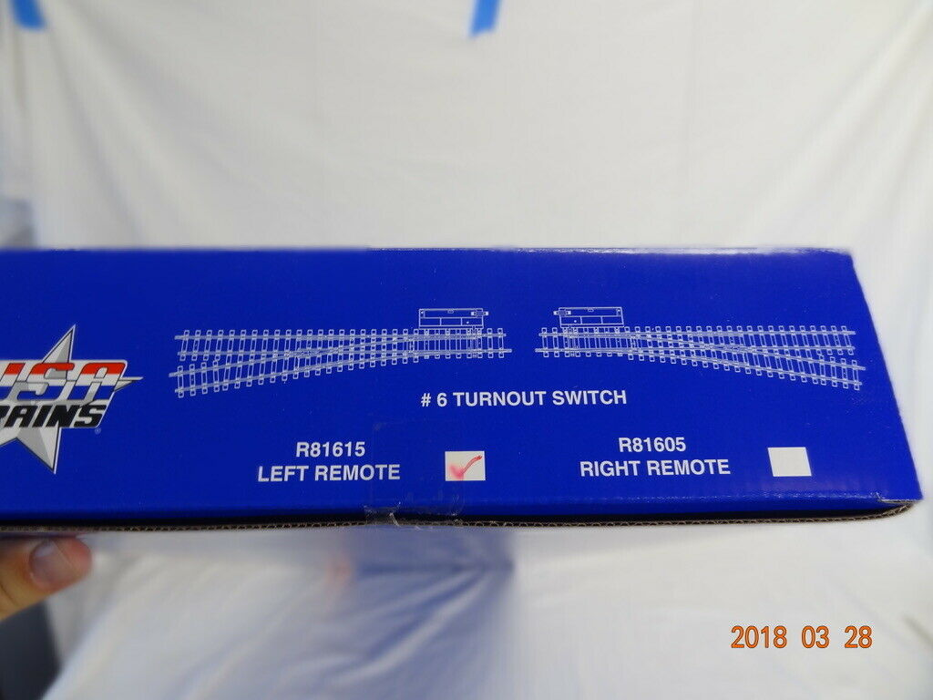 USA i treni  R81615 G SCALE  6 LEFT REMOTE SWITCH WITH LANTERN nuovo