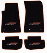 NEW! BLACK FLOOR MATS 2016-2017 Camaro 50TH Fifty Anniversary Logo Orange Trim A