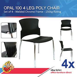 Details about 4x Opal 100 Visitor 4 Leg Metal Frame Stackable Office Chair Adam Focus Chairs  sc 1 st  eBay & 4x Opal 100 Visitor 4 Leg Metal Frame Stackable Office Chair Adam ...